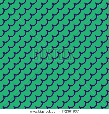 Wave geometric seamless pattern. Fashion graphic background design. Modern stylish abstract color texture. Template for prints textiles wrapping wallpaper website. Stock VECTOR illustration