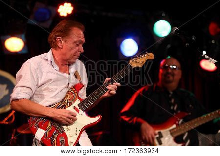 NEW YORK-JAN 10: Singer David Cassidy performs in concert at B.B. King's on January 10, 2015 in New York City.