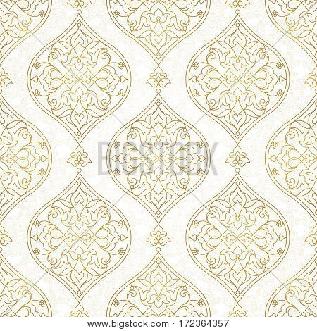 Vintage Seamless Pattern In Eastern Style.