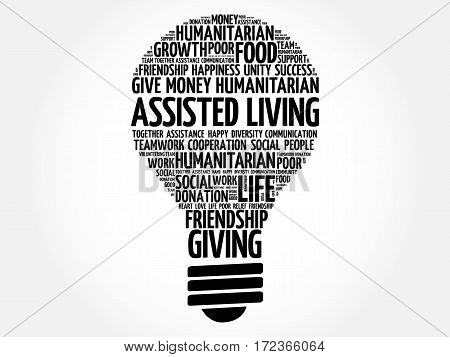 Assisted Living Bulb Word Cloud