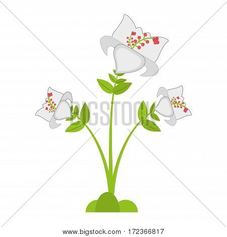 daylily flower branch decoration vector illustration eps 10