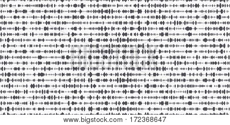 Vector seamless grunge pattern. Abstract background with chaotic brush strokes. Monochrome hand drawn texture