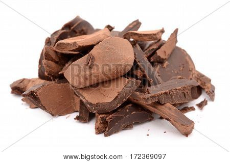 The most tasty chocolate isolated on a white background