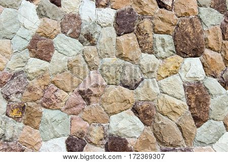 Closed up background of Rock wall stone wall