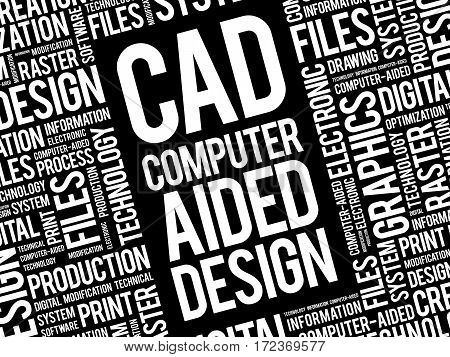 Cad - Computer Aided Design Word Cloud