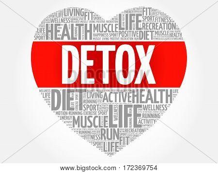 Detox Heart Word Cloud