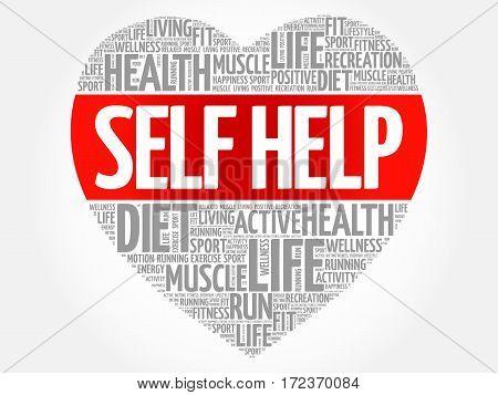 Self Help Heart Word Cloud
