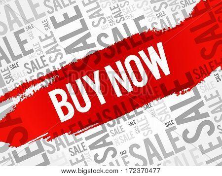 Buy Now Sale Words Cloud