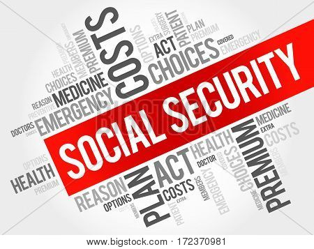 Social Security Word Cloud Collage