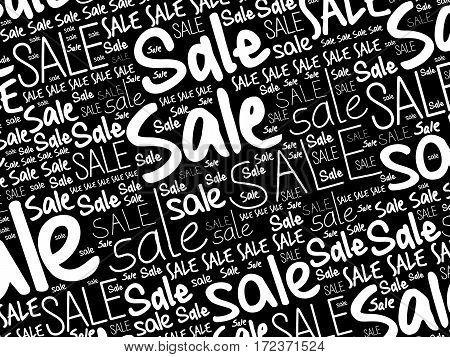 Sale Word Cloud Collage Background