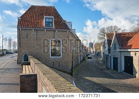 Impression of the historic city Zierikzee in the province Zeeland in The Netherlands