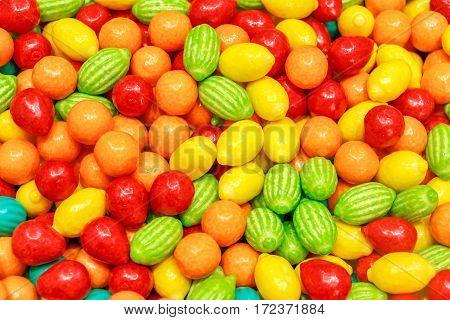 Fruit Shaped Bubble Gums