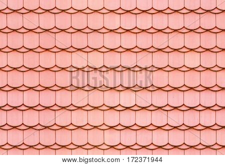 Seamless red, clay roof tile texture background