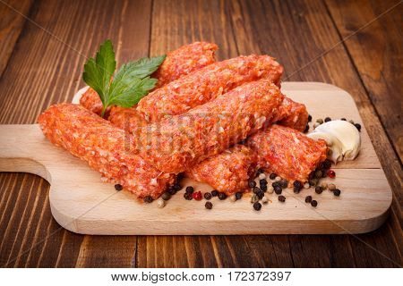 Romanian Pork And Lamb Sausages, Mititei With Pepper And Garlic