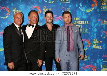 LOS ANGELES - SEP 24: Greg Louganis, Johnny Chaillot-Louganis, Michael Turchin, Lance Bass - LA LGBT Center 47th Gala Vanguard Awards, Pacific Design Center on September 24, 2016 in West Hollywood, CA