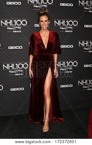 LOS ANGELES - JAN 27:  Keltie Knight at The NHL100 Gala at Microsoft Theater on January 27, 2017 in Los Angeles, CA