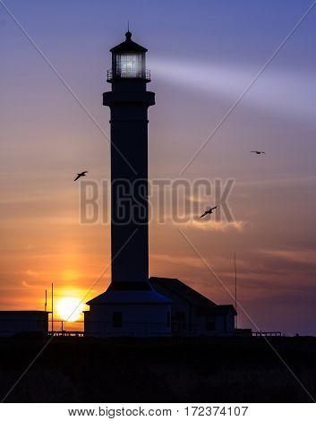 Point Arena Lighthouse on the California coast.
