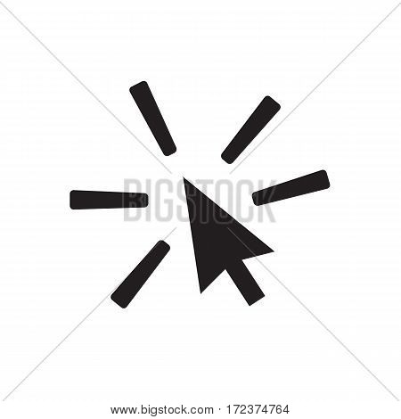click icon on white background. click sign.