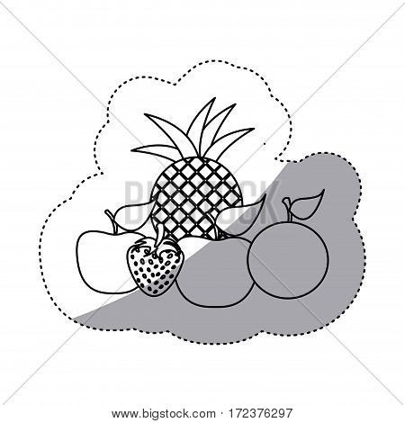 fruits icon stock image, vector illustration design