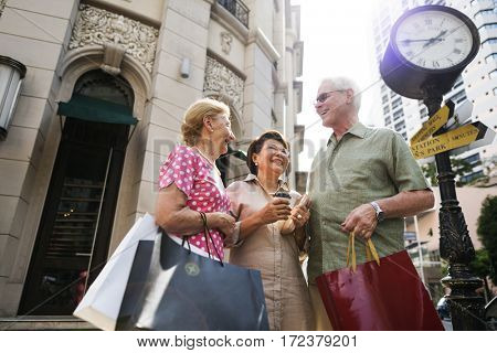 Senior Adult Shopping Friendship Lifestyle