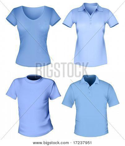 Vector. Men's and women's t-shirt design template.