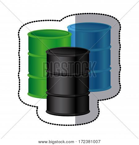 gasoline tanks icon stock image, vector illustration design