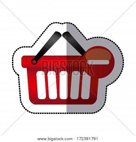 red baskets icon image design, vector illustration