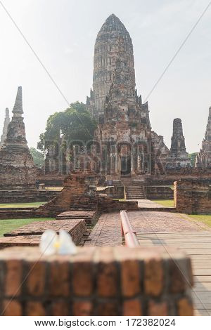 Temple in ayutthaya, Thailand ,Old city, Buddha