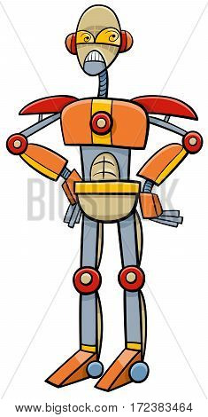 Robot Or Cyborg Cartoon Illustration