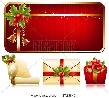 Vector christmas background. Christmas decoration.