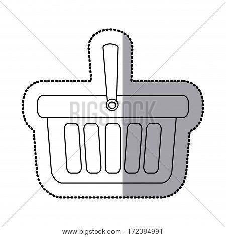 contour baskets icon image design, vector illustration