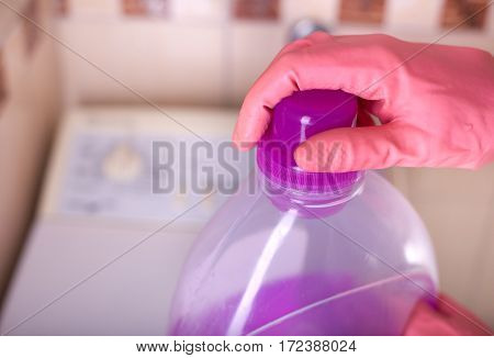 Laundry Detergent With Washing Machine