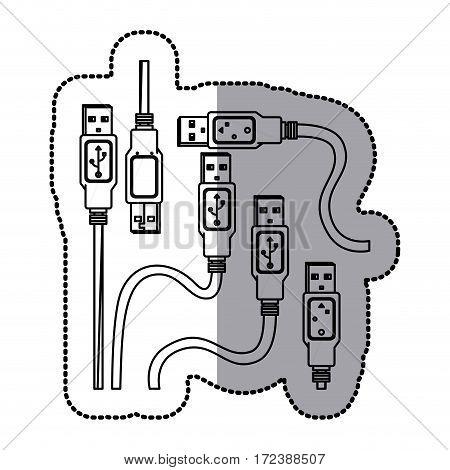 USB connection icon image design, vector illustration