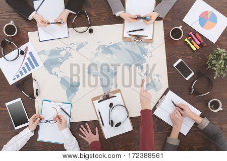 Workers Of Worldwide Company