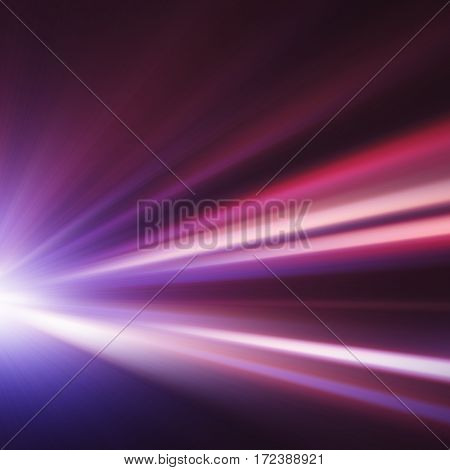 Abstract image of speed motion at night.