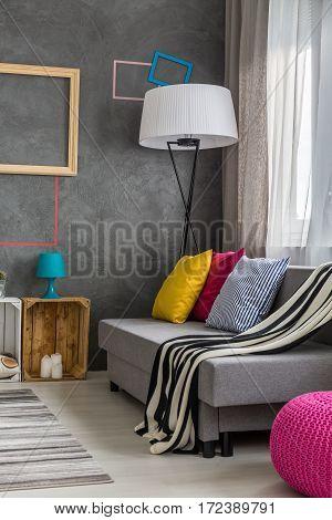 Comfortable Sofa Standing At Window