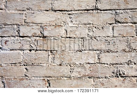 Old brick wall Background texture. Rough Facade with brickwall Surface. Web banner Horizontal Image Copy Space