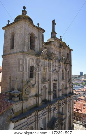 PORTO, PORTUGAL - AUGUST 5, 2015: Church of San Laurence in the area next to the cathedral in Porto Portugal.