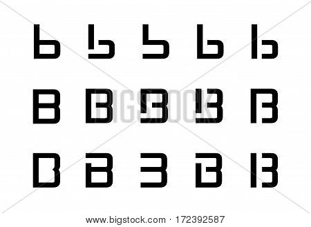 Different variations of logo letter B .
