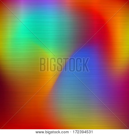 Metal abstract colorful gradient technology background with polished, brushed texture, chrome, silver, steel, aluminum for design concepts, web, prints, wallpapers. Vector illustration.