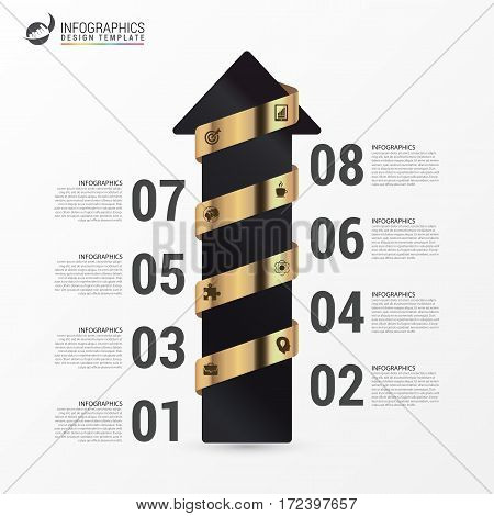 Infographic template. Business stair step success concept. Vector illustration