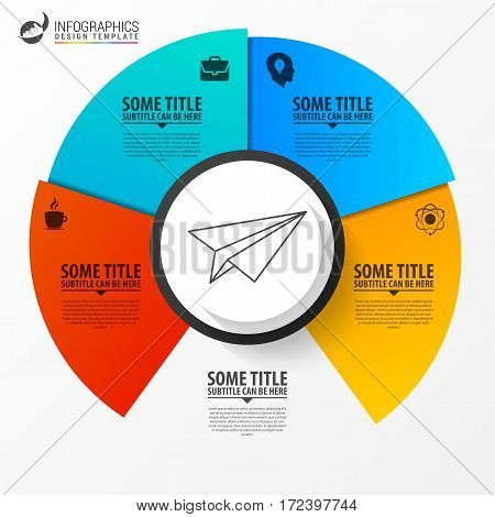 Business concept with 4 options. Infographic design. Vector illustration