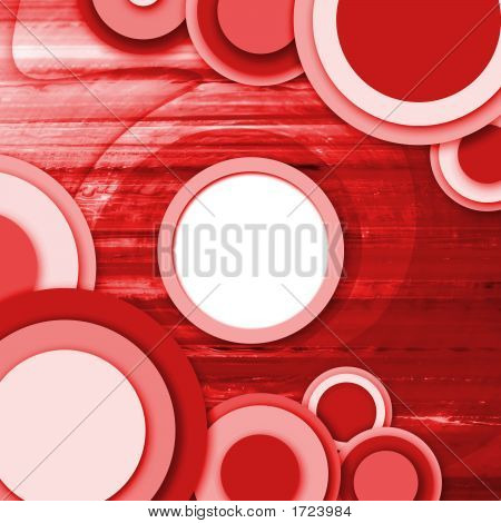 abstract vintage background with circle and swirl poster