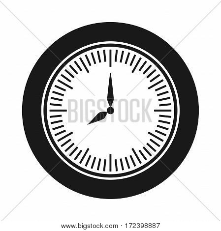 time icon. clock illustration. Watch sign. Isolated black object