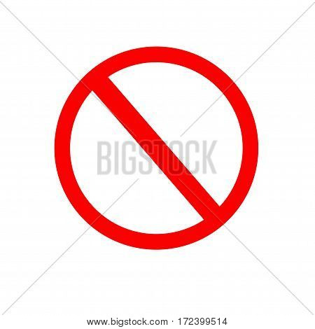 Forbidden sign icon. Isolated vector on white background.