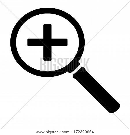Zoom in icon. Isolated vector on white background.