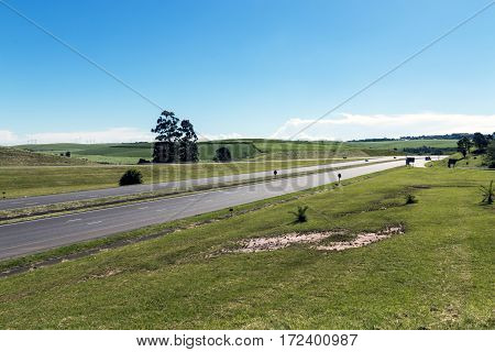 Quiet N3 Highway And Green Countryside