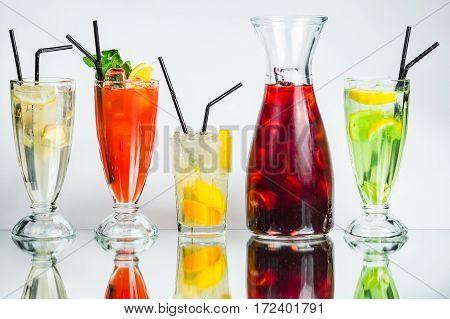 Set Of Lemonade Coctail Drink