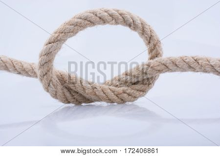 rope knot placed on a white background