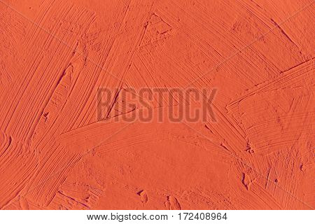 Painting close up of red flame color, paint brush strokes  texture for interesting, creative, imaginative backgrounds. For web and design.